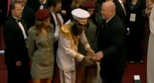 Academy Awards Security Snatches Urn from The Dictator